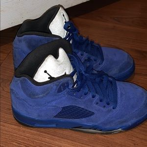 Air Jordan Retro 5 'blue suede' Grade School